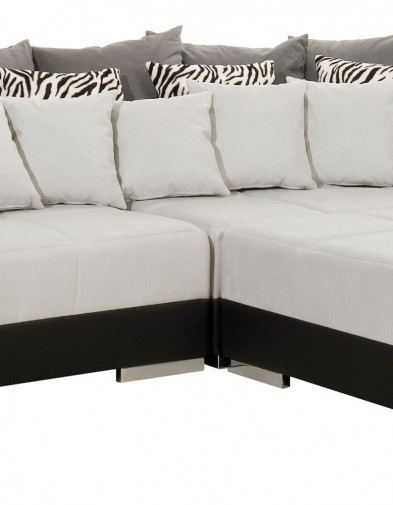 Black and White Sectional Modern Minimalis Sofa