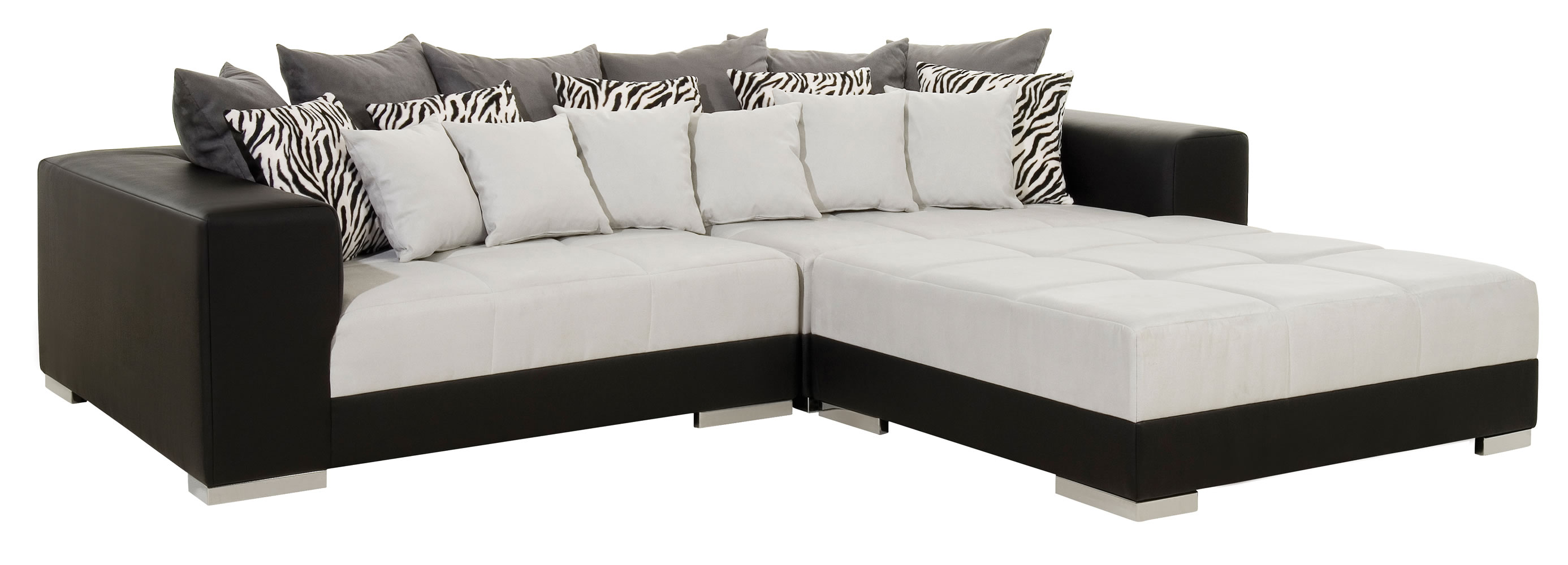 Black and white sectional Sofas