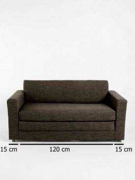 Sofa Bed Minimalis Hitam Kombinasi tampak Depan